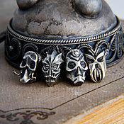 Украшения handmade. Livemaster - original item Charm bracelet Masks of Priests. Skyrim.  The Elder Scrolls. silver.. Handmade.
