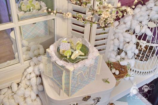 Детская ручной работы. Ярмарка Мастеров - ручная работа. Купить Шкатулка Baby Box Серо-голубая. Handmade. подарок новорожденному