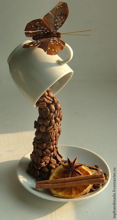 Топиарий парящая чашка с кофе мастер класс