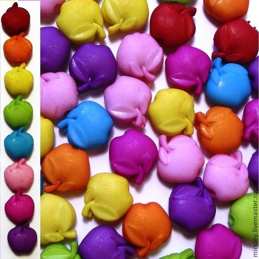 """Для украшений ручной работы. Ярмарка Мастеров - ручная работа. Купить Бусины пластиковые """"Яблочки"""". Handmade. Бусины пластиковые"""