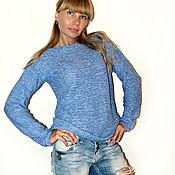 """Одежда ручной работы. Ярмарка Мастеров - ручная работа Вязаный джемпер """"Голубой меланж"""". Handmade."""