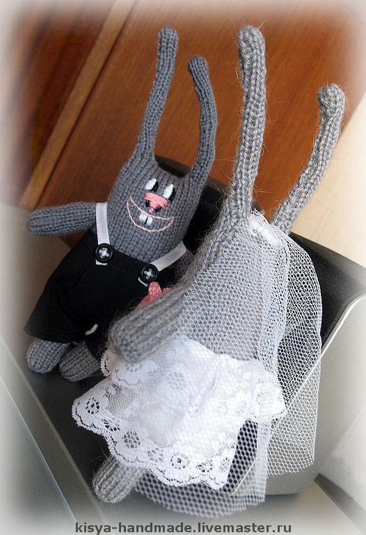 Игрушки животные, ручной работы. Ярмарка Мастеров - ручная работа. Купить Влюбленные зайцы. Handmade. Зайцы, оригинальный подарок