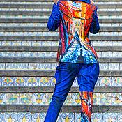 Костюмы ручной работы. Ярмарка Мастеров - ручная работа Костюм MODENARO: Женская квантовая коллекция (Синий). Handmade.