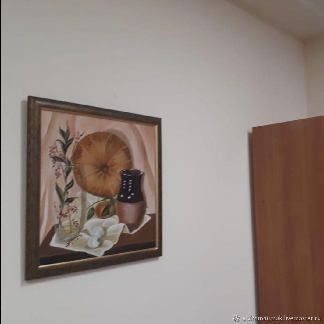 Картина маслом зимнее солнце тыква глиняный горшок, Иллюстрации, Санкт-Петербург,  Фото №1