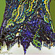 Блузка трикотаж, расшитая бусинами, бисером, натур. камнями, янтарем, Блузки, Брянск,  Фото №1