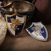 Украшения handmade. Livemaster - original item A pendant or a Badge the Shield of the Hero. Heroes of Might and Magic Heroes 3 brass silver. Handmade.