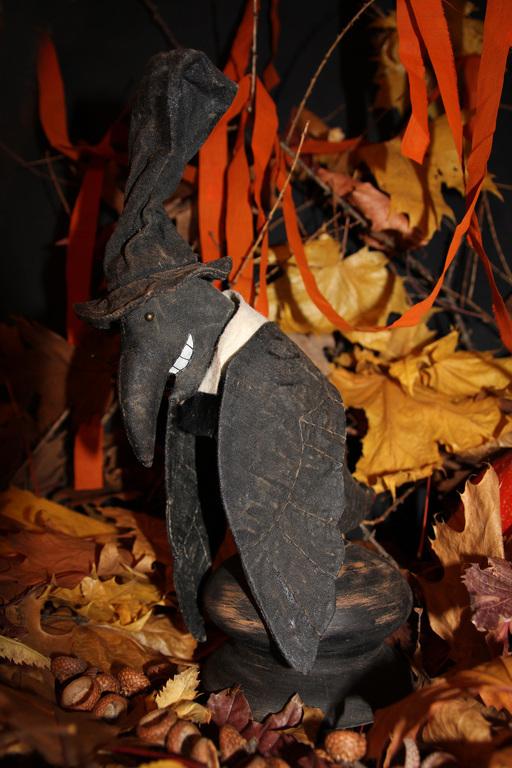 Коллекционные куклы ручной работы. Ярмарка Мастеров - ручная работа. Купить Ворон Крэнк. Handmade. Черный, волшебство, ученый, иллюзионист