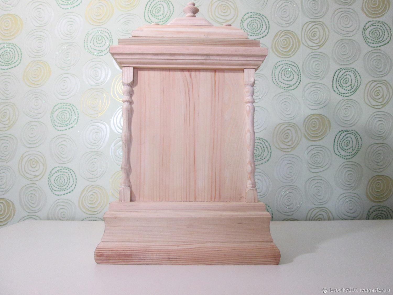 Корпус из дерева для декупажа, Часы, Омск,  Фото №1