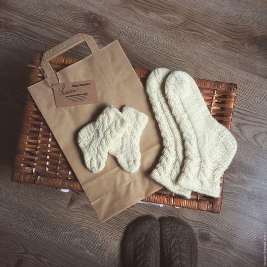 Носки, Чулки ручной работы. Ярмарка Мастеров - ручная работа. Купить Комплект носков Для мамы и малыша. Handmade. Носки