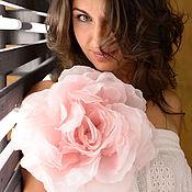 Украшения ручной работы. Ярмарка Мастеров - ручная работа Большой шёлковый цветок. Handmade.