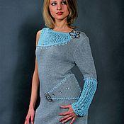 Одежда ручной работы. Ярмарка Мастеров - ручная работа Вязаное платье с одним рукавом. Handmade.