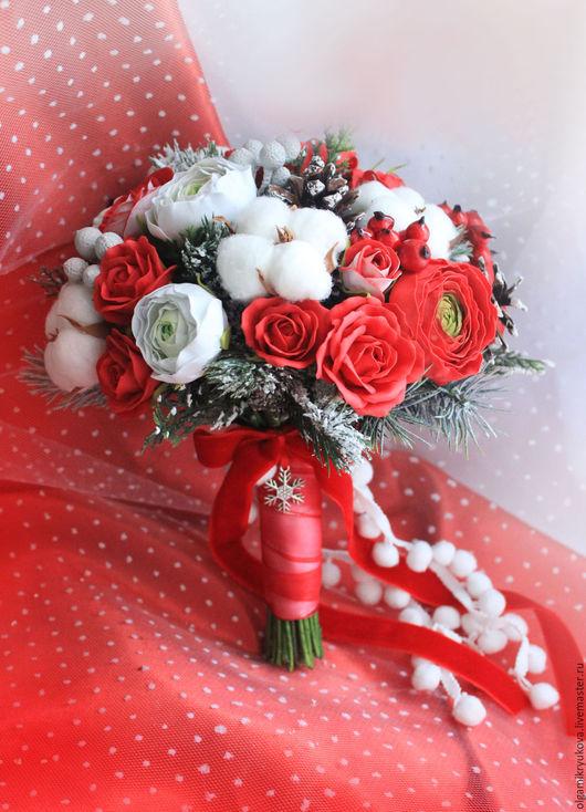 Свадебные цветы ручной работы. Ярмарка Мастеров - ручная работа. Купить Букет невесты из фоамирана. Handmade. Кремовый, букет невест