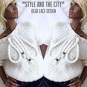 """Одежда ручной работы. Ярмарка Мастеров - ручная работа Вязаный свитер """"Style and the city"""" от Olga Lace. Handmade."""