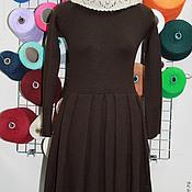 Одежда ручной работы. Ярмарка Мастеров - ручная работа Платье вязаное №29 из 30%и итальянской шерсти. Handmade.