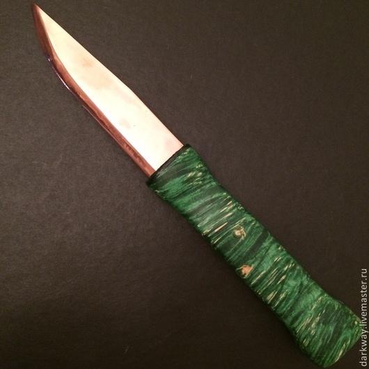 Эзотерические аксессуары ручной работы. Ярмарка Мастеров - ручная работа. Купить Нож 'Знахарь'. Handmade. Тёмно-зелёный, ведун, стабилизация