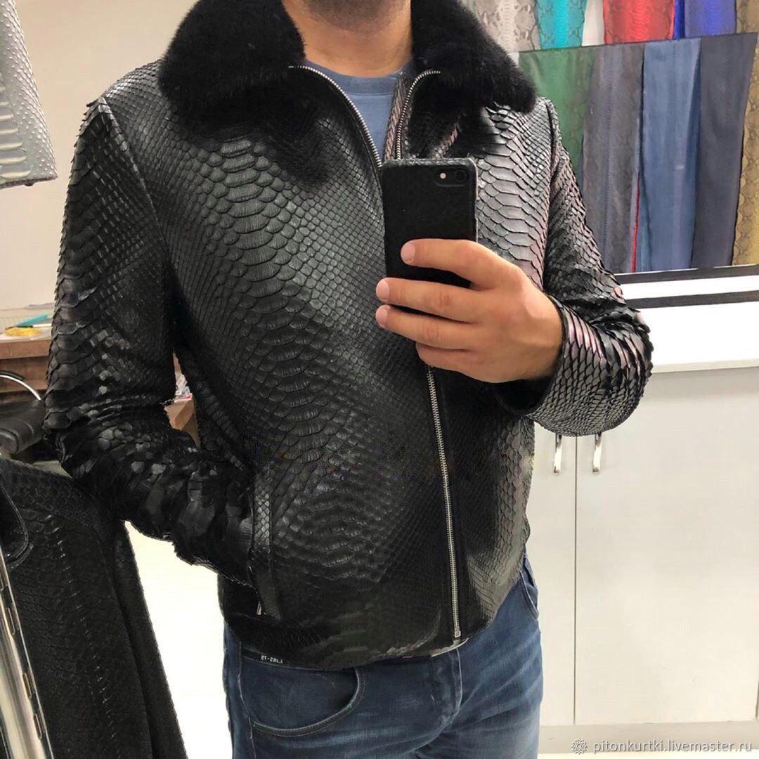Мужская куртка из питона, Куртки, Москва,  Фото №1