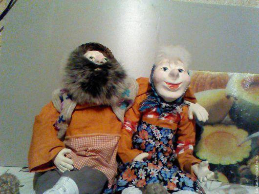 Народные куклы ручной работы. Ярмарка Мастеров - ручная работа. Купить Пара на юбилей. Handmade. Дед да бабка, бежевый