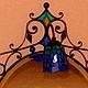 """Зеркала ручной работы. Витражное настенное зеркало в кованой раме с подсветкой """"колокольчик"""".. Татьяна (luxdesign). Интернет-магазин Ярмарка Мастеров."""