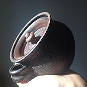 Для дома и интерьера ручной работы. Ярмарка Мастеров - ручная работа Солонка глиняная.. Handmade.
