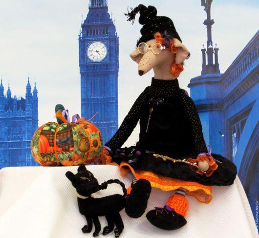 Куклы Тильды ручной работы. Ярмарка Мастеров - ручная работа. Купить Крыска Волшебница, кошка Фима и Тыква. Handmade. Разноцветный