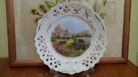 Винтажная посуда. Ярмарка Мастеров - ручная работа. Купить Коллекционная тарелка 1940 г Англия. Handmade. Фарфоровая посуда