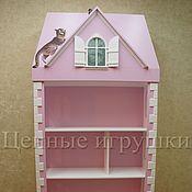 """Для дома и интерьера ручной работы. Ярмарка Мастеров - ручная работа Стеллаж """"Кот на крыше"""". Handmade."""