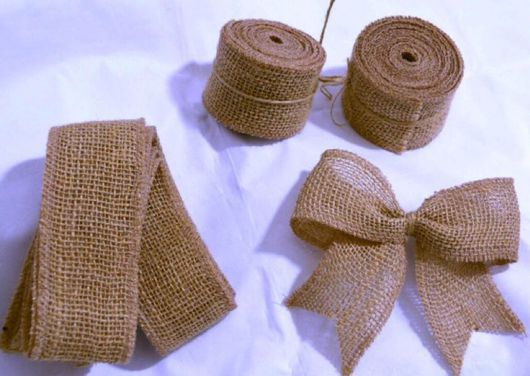 Аппликации, вставки, отделка ручной работы. Ярмарка Мастеров - ручная работа. Купить Лента из джута (мешковина). Handmade. Джут, шитье