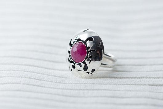 Кольца ручной работы. Ярмарка Мастеров - ручная работа. Купить Серебряное кольцо с турмалином - Розовый рай. Handmade. Розовый