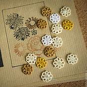 Материалы для творчества handmade. Livemaster - original item Embroidery, applique openwork Daisy lace FSL free. Handmade.