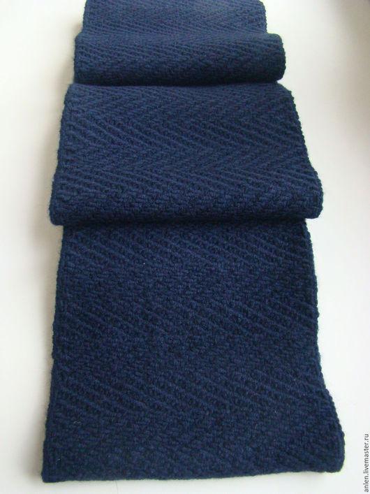 Шарфы и шарфики ручной работы. Ярмарка Мастеров - ручная работа. Купить Шарф  мужской. Handmade. Тёмно-синий, мужской подарок