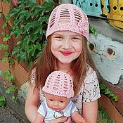Аксессуары ручной работы. Ярмарка Мастеров - ручная работа Вязаная летняя шапочка для ребенка и куклы. Handmade.