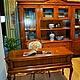 Мебель ручной работы. Ярмарка Мастеров - ручная работа. Купить Библиотека (шкаф, стеллаж, стол, кресло). Handmade. Шкаф, стол