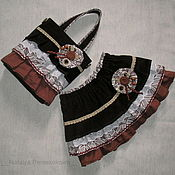 Работы для детей, ручной работы. Ярмарка Мастеров - ручная работа комплект для девочки Деревенька юбка и сумочка. Handmade.