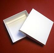 Материалы для творчества ручной работы. Ярмарка Мастеров - ручная работа Коробка крышка-дно самосборная - белый мелованный картон 310 г/м. Handmade.