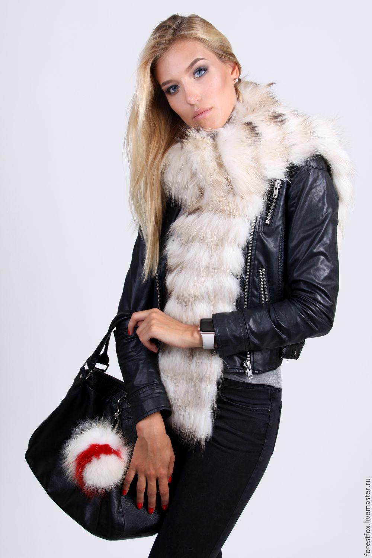Raccoon fur scarf, Scarves, Moscow,  Фото №1