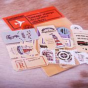 Канцелярские товары handmade. Livemaster - original item Vintage decorative stickers