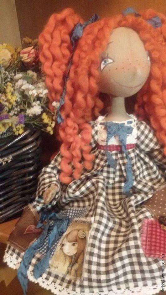 Куклы тыквоголовки ручной работы. Ярмарка Мастеров - ручная работа. Купить Пеппилотта. Handmade. Разноцветный, текстильная кукла, подарок на новый год