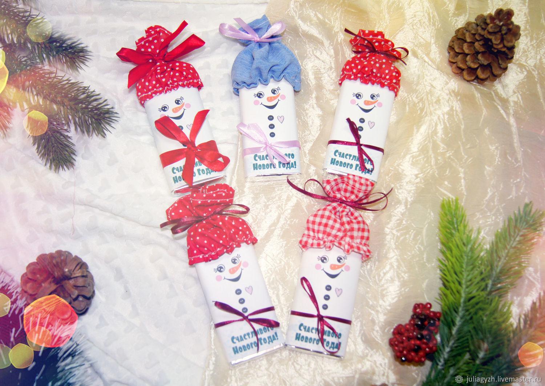 Шоколадка-снеговик, Новогодние сувениры, Ставрополь,  Фото №1