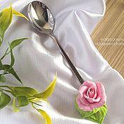 Посуда ручной работы. Ярмарка Мастеров - ручная работа Ложка с розочкой. Handmade.