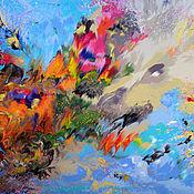 Картины и панно ручной работы. Ярмарка Мастеров - ручная работа Большая красивая картина для интерьера Абстракция  100 x 100 см. Handmade.