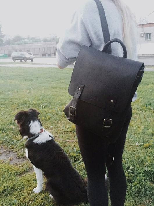 """Рюкзаки ручной работы. Ярмарка Мастеров - ручная работа. Купить Рюкзак """"рам мини"""" черный. Handmade. Рюкзак"""