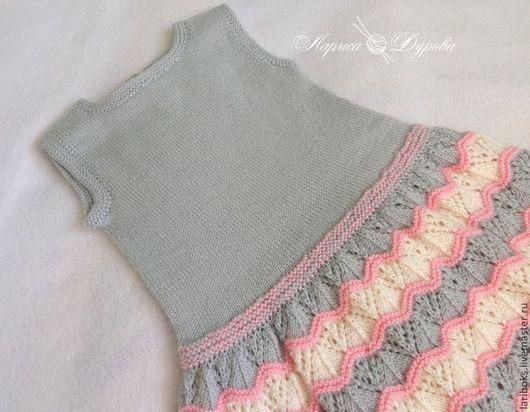 Одежда для девочек, ручной работы. Ярмарка Мастеров - ручная работа. Купить Платье Бисквит. Handmade. Серый, одежда для детей