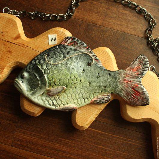 Животные ручной работы. Ярмарка Мастеров - ручная работа. Купить Речная рыба (р31). Handmade. Комбинированный, речная рыба, сувенир