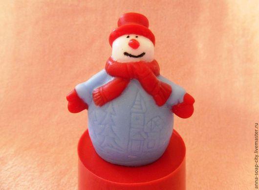 """Другие виды рукоделия ручной работы. Ярмарка Мастеров - ручная работа. Купить Силиконовая форма для мыла """"Снеговик"""". Handmade."""