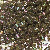 Материалы для творчества handmade. Livemaster - original item 5g Delica 11/0 DB133 Olive Ab Japanese bead Delica Miyuki. Handmade.