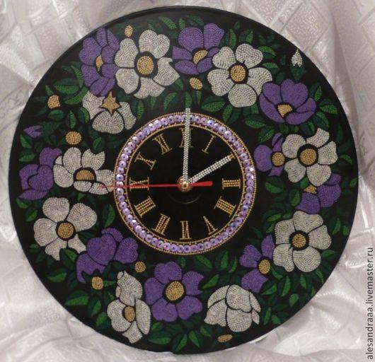 """Часы для дома ручной работы. Ярмарка Мастеров - ручная работа. Купить Часы """"летние"""". Handmade. Винил, часы настенные, часы"""