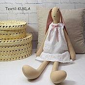 Куклы и игрушки ручной работы. Ярмарка Мастеров - ручная работа Зайка (70см) - текстильная игрушка. Handmade.