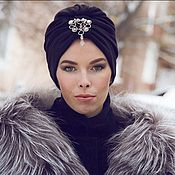 Аксессуары handmade. Livemaster - original item The hat is a turban made of knitted fabric