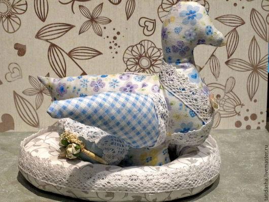 Игрушки животные, ручной работы. Ярмарка Мастеров - ручная работа. Купить Уточка с гнездом. Handmade. Голубой, игрушка для детей