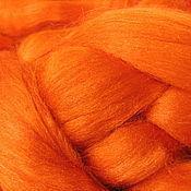 Материалы для творчества ручной работы. Ярмарка Мастеров - ручная работа Шелк Тусса. Цвет Оранжевый (Orange). Handmade.